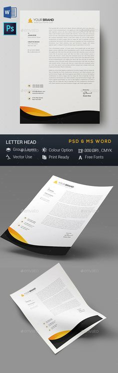 Letterhead Stationery printing, Print templates and Letterhead design
