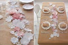Tischdeko mit Kraftpapier