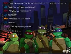Bad Language by Mysterious-D on DeviantArt Tmnt 2012, Ninja Turtles Art, Teenage Mutant Ninja Turtles, Shinigami, Powerpuff Girls Episodes, Ninja Turtle Bedroom, Turtles Forever, Tmnt Leo, Minions