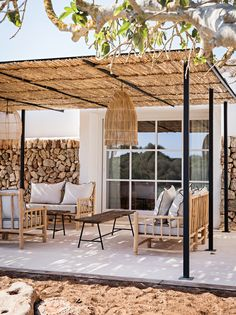 Patio Design, Exterior Design, Garden Design, House Design, Pergola Designs, Pergola Patio, Backyard Patio, Backyard Landscaping, Modern Pergola