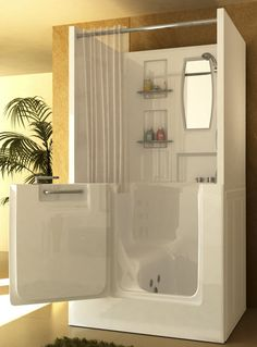 Elegant Macaw Walk In Bathtub With Shower Stall Enclosure (yeah, I Like It.