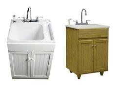 Laundry Tub Cabinet - Home Furniture Design Laundry Tubs, Laundry Rooms, Home Furniture, Furniture Design, Laundry Room Remodel, Laundry Room Cabinets, Vanity Cabinet, Basement Remodeling, Interior Design Living Room