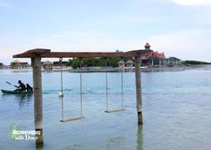 Beach Swings and Private Island at Sandals Royal Caribbean Resort in Montego Bay, Jamaica