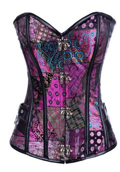 Burlesque Clothing | Purple Patched Steampunk Corset #gypsy Only $69.99