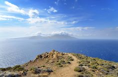 View to the deep blue of the Aegean
