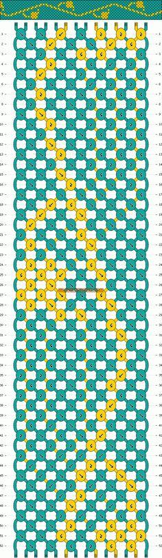 Normal Friendship Bracelet Pattern #10738 - BraceletBook.com