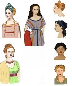 Roman Empire Clothing -                                                              Roman hair and make up (for Barony going roman in summer)