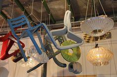 Happy spring colors and designs by Studio DIRK VAN DER KOOIJ. Ceiling presentation during the opening party of their new studio / showroom in Zaandam http://www.gimmii.nl/ontwerper/dirk-vander-kooij/ Foto Gimmii.nl, Corien Juffer