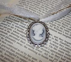Regency Necklace Jane Austen Jewelry - Elizabeth Bennet from Pride and Prejudice, Emma, Sense and Sensibility by SewManyTreasures, $15.00 USD