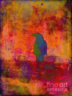 Raven's Revelation by Meghan at FireBonnet Designs #abstract #color #poe