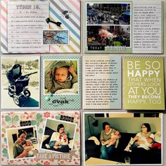 Project Life - Week 16 (left page)