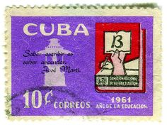 Cuba postage stamp: literacy | Flickr - Photo Sharing!