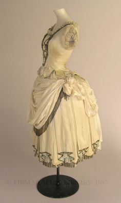 Fancy dress costume  c. 1883-87  Swan & Edgar  at FIDM