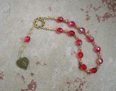 Eros Mini Prayer Beads: Greek God of Love, Lust, and Passion by HearthfireHandworks on Etsy