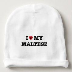 #cute #baby #beanies #babybeanies - #I Heart My Maltese Baby Beanie