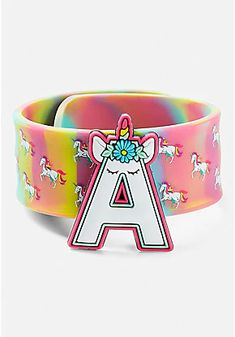 Justice is your one-stop-shop for on-trend styles in tween girls clothing & accessories. Shop our Unicorn Initial Slap Bracelet.