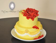 Beauty and the Beast inspired cake.