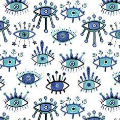 Australian surface pattern designer Evil Eye Art, Eye Tattoo, Eye Illustration, Evil Eye Tattoo, Eyes Wallpaper, Art, Surface Pattern Design, Pop Art, Pattern Art
