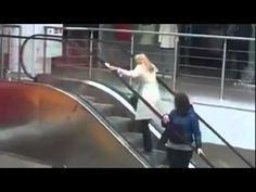 Blonde On Escalator. Cannot stop laughing!
