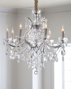 Crystal+Drop+9-Light+Chandelier+at+Neiman+Marcus.