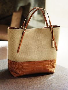 Michael Kors Large Gia Slouchy Two-Tone Tote