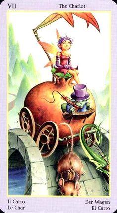 The Chariot - Fey Tarot The Chariot Tarot, Tarot Cards Major Arcana, Tarot Card Decks, Wild Spirit, Cancer Sign, Picture Cards, Tarot Reading, Deck Of Cards, Goblin