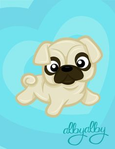 mi second puppy from my serie PUPPY LOVE a cute pug! Pug Cartoon, Cartoon Drawings, Cãezinhos Bulldog, Dog Coloring Page, Pugs And Kisses, Pug Art, Pug Pictures, Pug Love, Cute Wallpapers