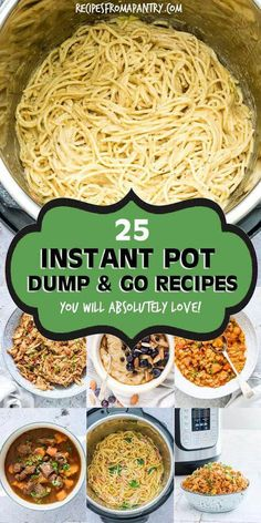 This awesome collection of tried and tested Dump and Start Instant Pot Recipes includes a variety of delicious and easy breakfasts, soups and stews, main dishes, side dishes and desserts. Just dump in the Instant Pot, press start and the magic pot will do Crock Pot Recipes, Slow Cooker Recipes, Cooking Recipes, Healthy Recipes, Easy Instapot Recipes, Hot Pot Recipes, King Pro Pressure Cooker Recipes, Crock Pot Dump Meals, Pressure Cooker Desserts