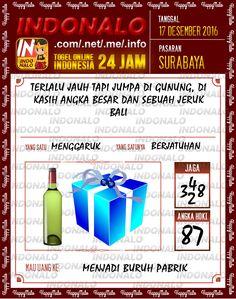 Tafsir Lotre 4D Togel Wap Online Live Draw 4D Indonalo Surabaya 17 Desember 2016