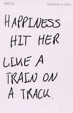 Florence + The Machine - Dog Days Are Over  Happiness hit her like a train on a track.