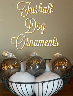 These DIY dog ornaments are so easy to make and great for the holidays. Use them on your own tree or give them as gifts to family and friends. Save the fur. Make these ornaments. Simple Christmas, Christmas Bulbs, Christmas Ideas, Holiday Fun, Christmas Decor, Merry Christmas, Dog Ornaments, Ornament Crafts, Dog Crafts