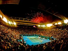 Rod Laver Arena.  Melbourne, Australia.  Photo Credit: Brett Connors Photography.  www.facebook.com/pages/Brett-Connors-Photography/232124636872344 Rod Laver Arena, Victoria Australia, Melbourne Australia, Photo Credit, Places To Travel, Tennis, Highlights, Landscapes, Around The Worlds