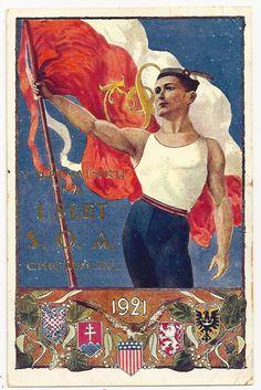 Sokol Postcard - Czech