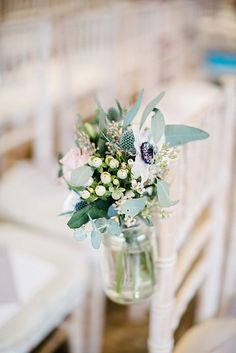 Chair end jar from one of our weddings