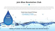 Total Liters Saved Till Now -154062799 Liters I have pledged to save Water... Are you ready to pledge? The count is growing...++++++++ Come and Join the Blue Revolution Now. MAKE A PLEDGE TO SAVE WATER AND USE WATER WISELY http://www.walkforwater.in/blue-revolution-club/ #Savewater #Walkforwater #Joinwalkforwater #walk4water4all  #responsiblecitizen #JoinBlueRevolution #Patrons