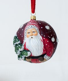 """Jingle Ball"" Santa with Tree from Vaillancourt Folk Art"