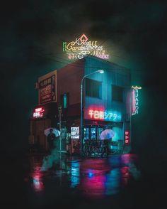"""Transmetropolitan"": Photographer Omi Kim Explores Neon Streets Of Cyberpunk Japan - ""Transmetro Cyberpunk City, Arte Cyberpunk, Cyberpunk Fashion, Urban Photography, Night Photography, Street Photography, Japanese Photography, Photography Magazine, Pink Neon Lights"