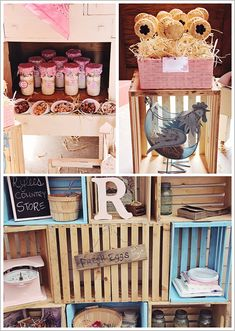 I have these crates if you like this idea to display your food