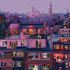 illustration by Pier Paolo Rovero London Illustration, People Illustration, Graphic Design Illustration, Illustration Art, Audrey Kawasaki, Robert Mcginnis, Skottie Young, Transformers Art, Paris Amor