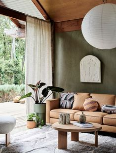 A Natural, Textural and Sustainable Living Room Makeover