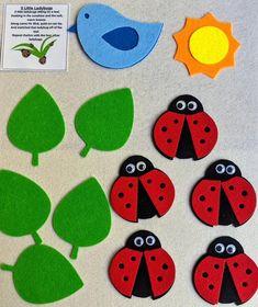 Flannel Board Stories, Felt Board Stories, Felt Stories, Flannel Boards, Ladybug Felt, Ladybug Crafts, Preschool Literacy, Preschool Crafts, Preschool Ideas