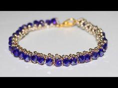 Тонкий браслет из бисера и бусин своими руками DIY Bracelet from beads - YouTube
