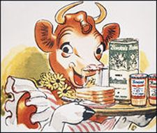 Borden's Elsie the Cow. We had a neighbor lady named Elsie I wondered why she was named after a cow. Vintage Advertisements, Vintage Ads, Vintage Prints, Vintage Posters, Sweet Memories, Childhood Memories, Elsie The Cow, Oldies But Goodies, I Remember When