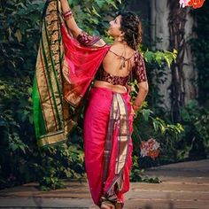 🚩 मराठी S t u f f™ 🚩 ( Kashta Saree, Saree Poses, Sarees, Indian Look, Indian Wear, Beautiful Girl Indian, Beautiful Girl Image, Marathi Saree, Priyanka Chopra Hot