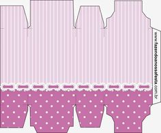 Stripes and Polka Dots in Lilac and White: Free Printables Boxes. | Oh My…