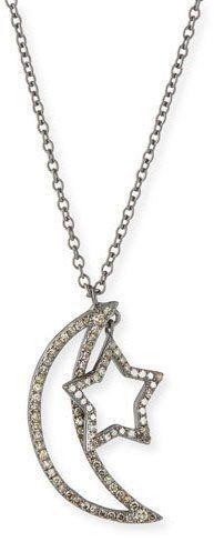 Siena Lasker Diamond Moon & Star Pendant Necklace