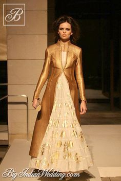 Rohit Bal bridal collection. I love Rohit's Indian creation teamed with long coats. Description of Pinner Mahua Roy Chowdhury