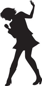 Pink Cartoon Silhouette Of A Girl Singing Into Microphone 0071 . Cartoon Silhouette, Silhouette Pictures, Silhouette Clip Art, Girl Silhouette, Karaoke, Music Clipart, Comedia Musical, Cool Optical Illusions, Rock Star Party