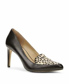 Hollyn Leather Pointy Heels - This style-defining pair makes a beautifully bold statement with a luxe play of sleek leather and spotted calf hair. Padded footbed for complete comfort. Women's Pumps, Shoes Heels, Business Shoes, Shoe Game, Me Too Shoes, Kitten Heels, Autumn Fashion, Legs, Ann Taylor