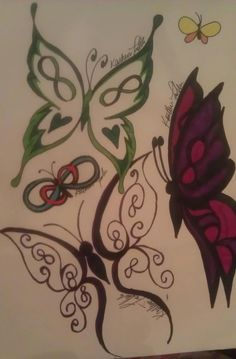 Infinity butterfly tattoo Butterfly tattoos and Butterflies on .